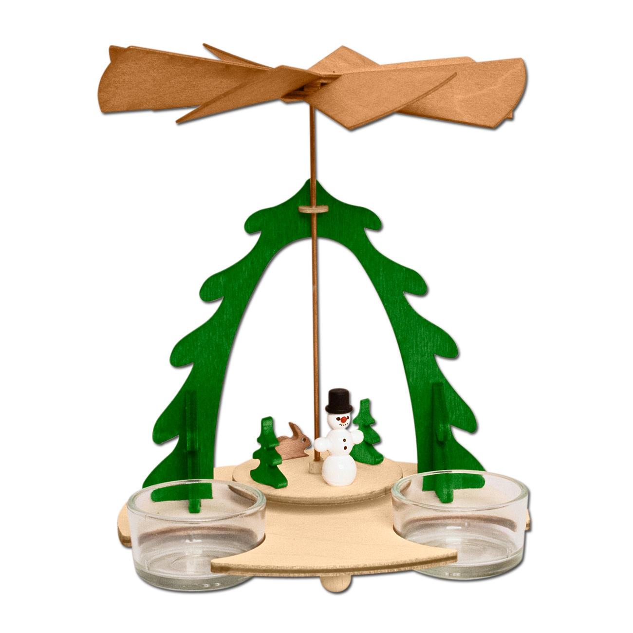 teelichthalter aus holz pyramide schneemann. Black Bedroom Furniture Sets. Home Design Ideas