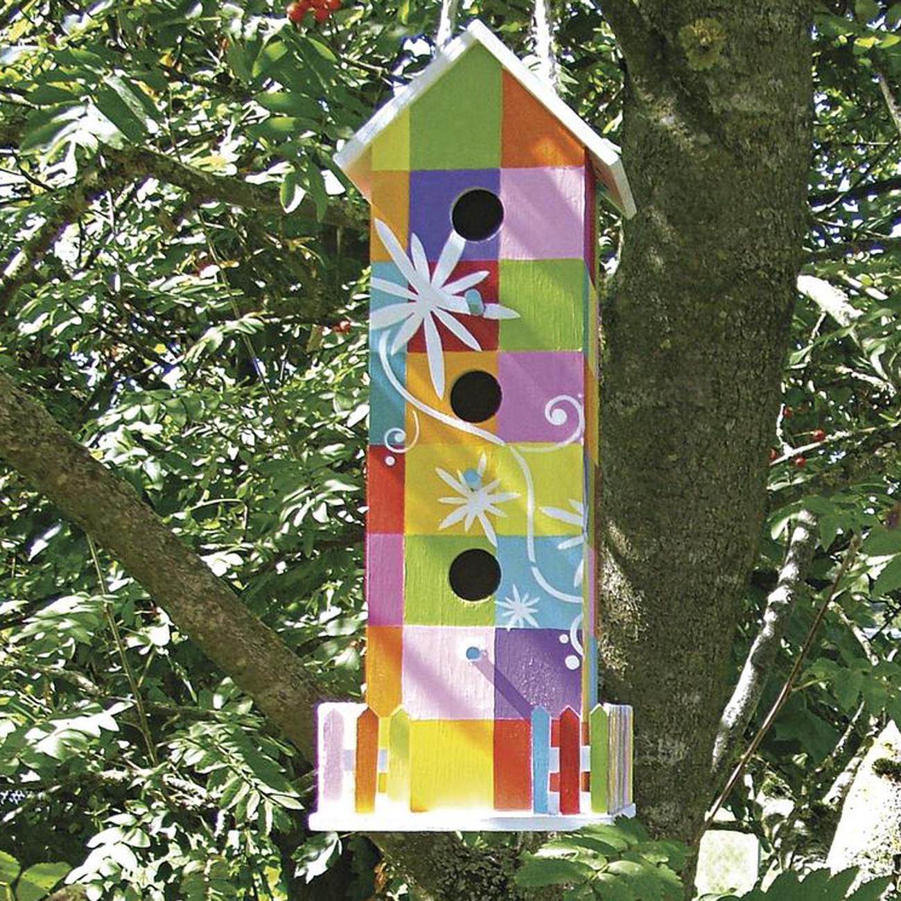Vogelhaus mit gartenzaun - Vogelhaus basteln ...