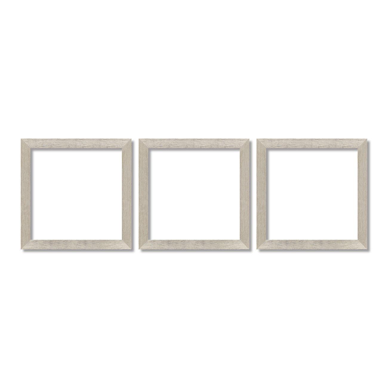 Rahmen für Triptychon, aus Kunststoff, 3x 40 x 40 cm