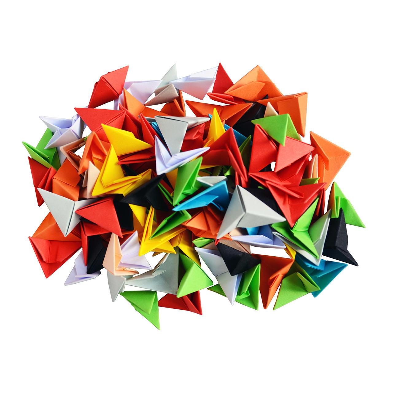 modulares origami wei er schwan. Black Bedroom Furniture Sets. Home Design Ideas