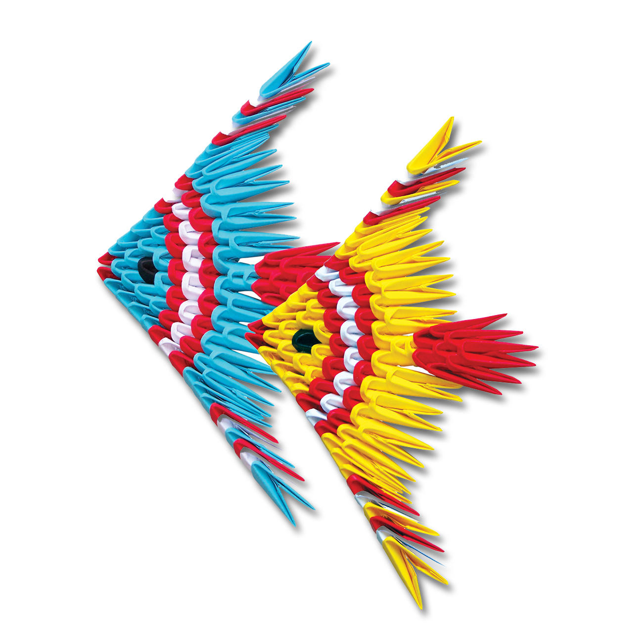 Modulares origami zwei fische - Fische basteln aus papier ...