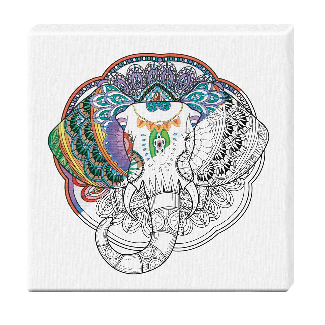 Zen-Color™ Keilrahmen-Bild - Elefant