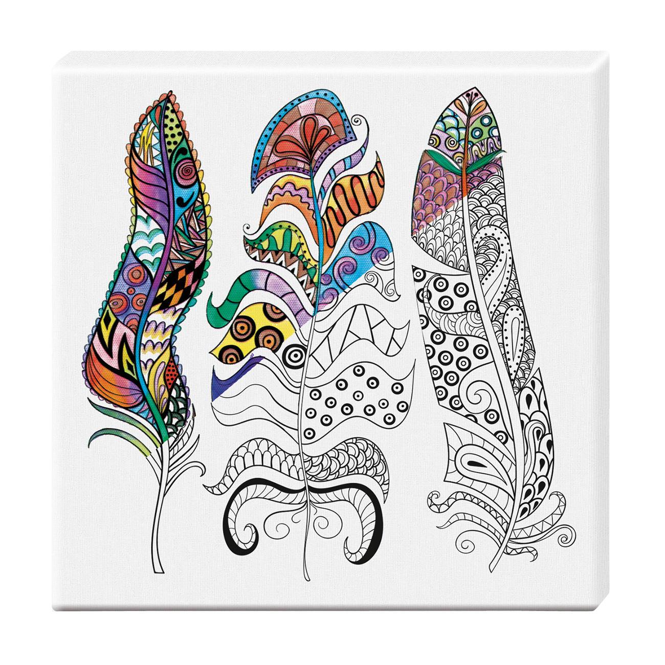 Zen-Color™ Keilrahmen-Bild - Federn