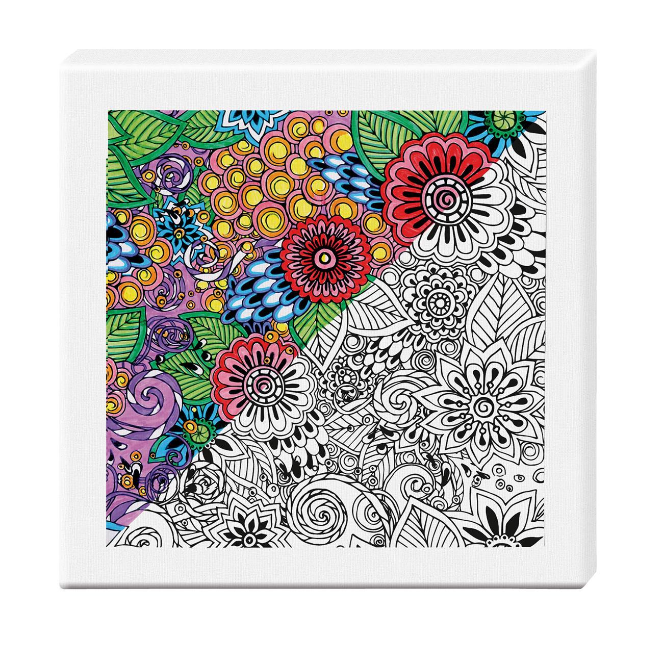 Zen-Color™ Keilrahmen-Bild - Blumenmeer