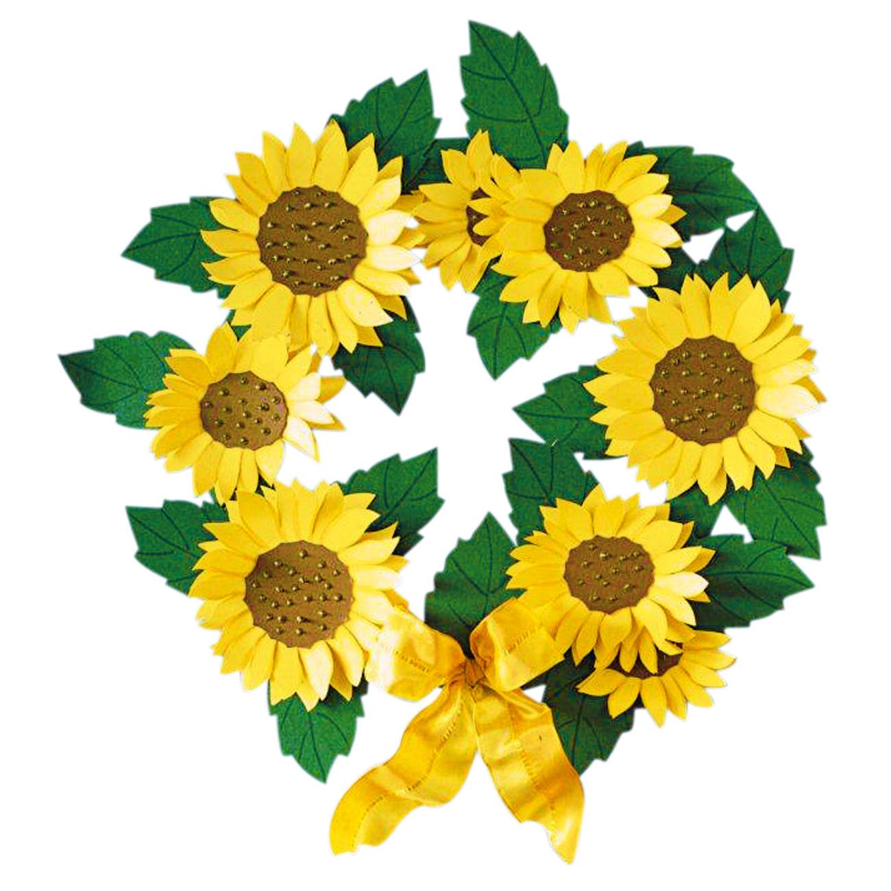 Fensterbild Sonnenblumenkranz
