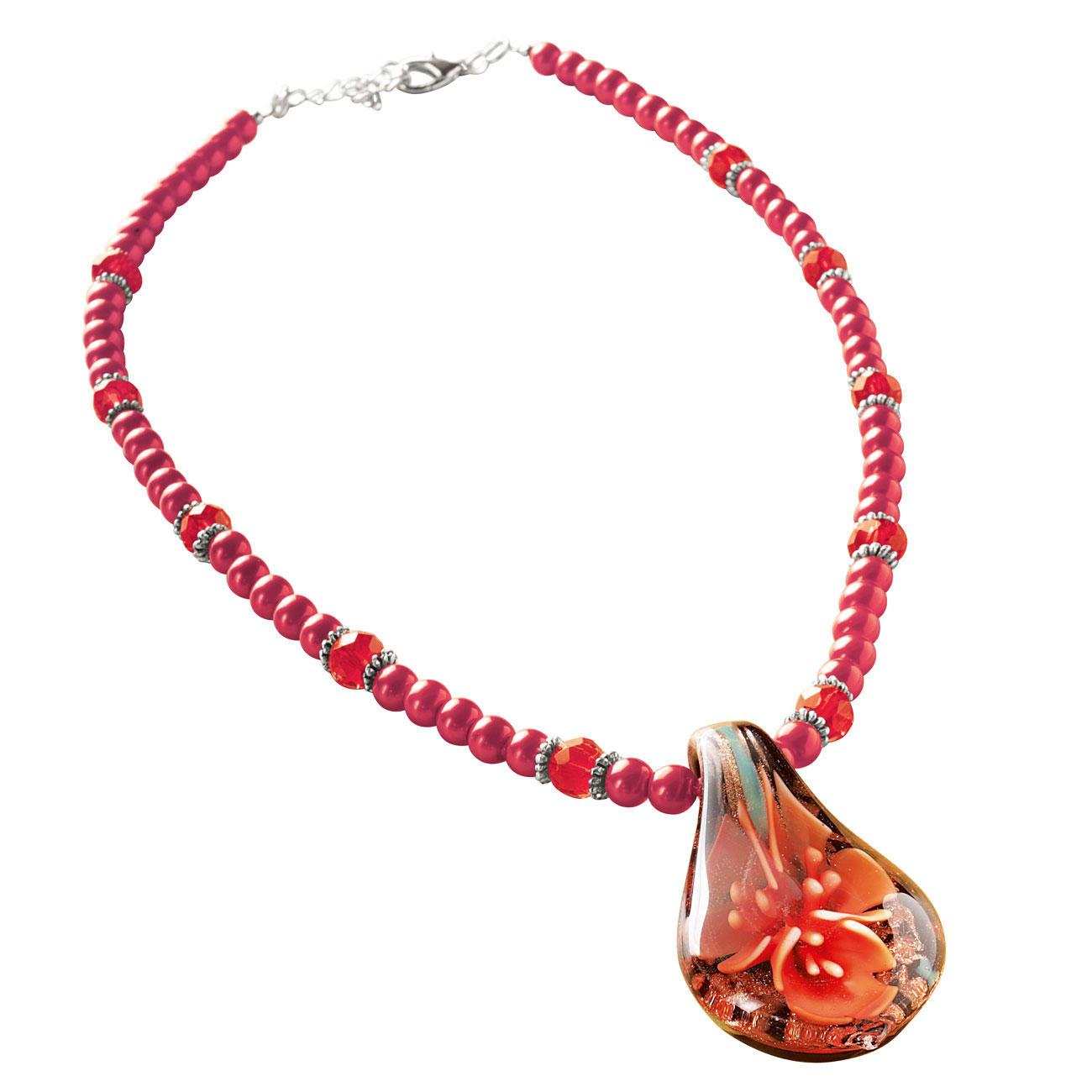 Komplettpackung Kette - Flower oder Armband - Lava