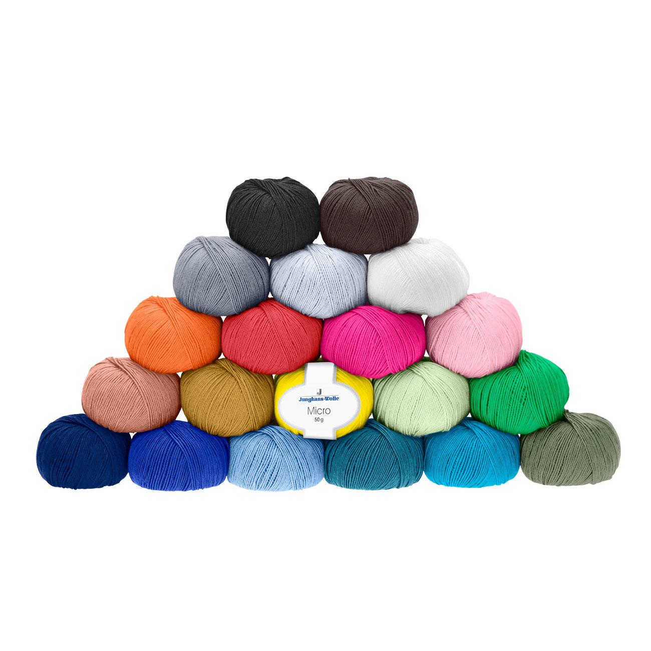 Micro Von Junghans Wolle 20 Versch Farben
