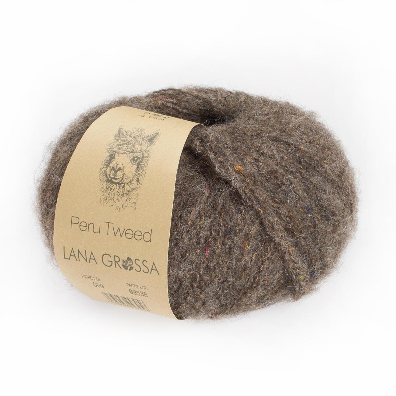 Lana Grossa Peru Tweed Wolle Kreativ Fb 8 goldbraun 50 g