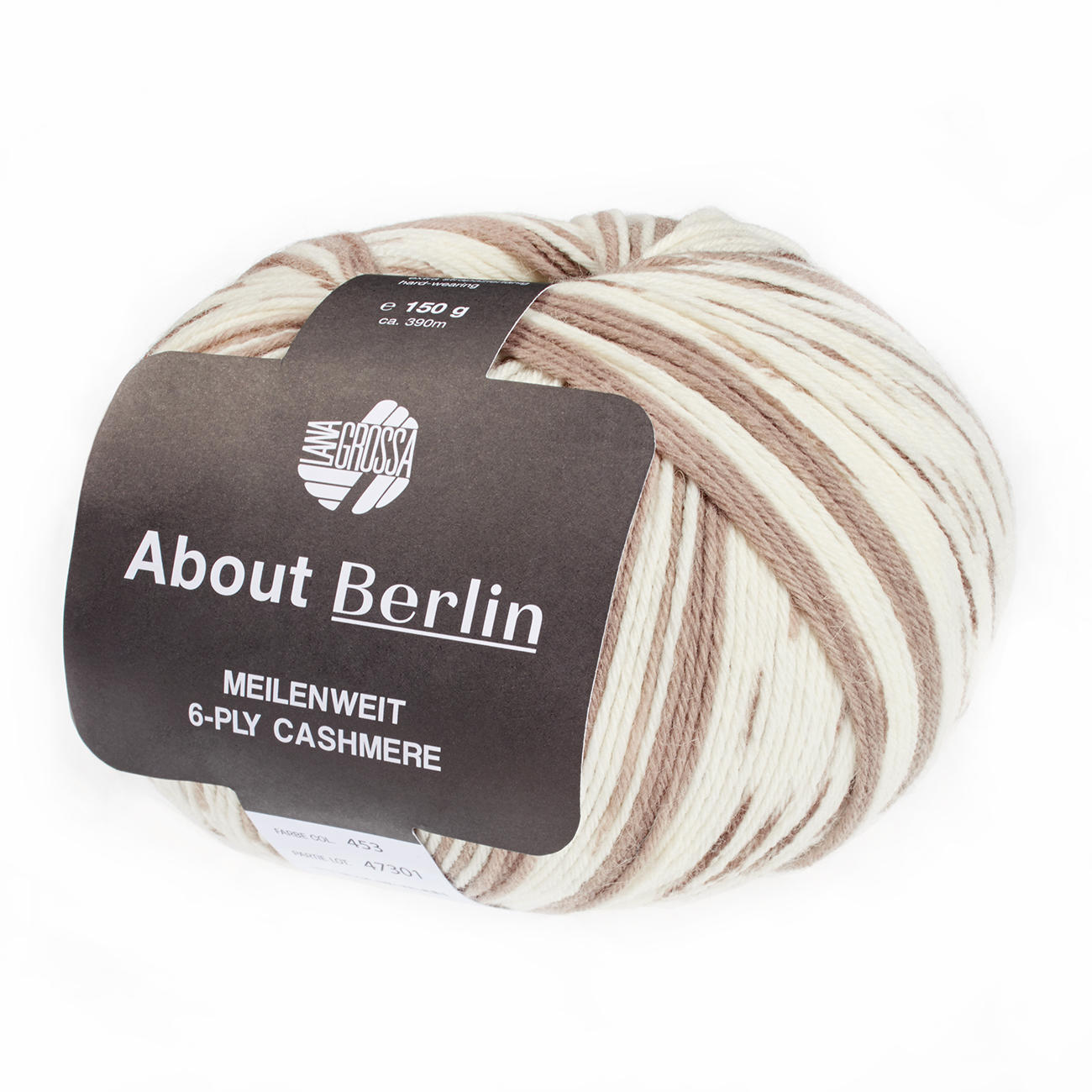 Wolle Kreativ 1 150g Fb About Berlin Meilenweit 6-PLY Cashmere Lana Grossa