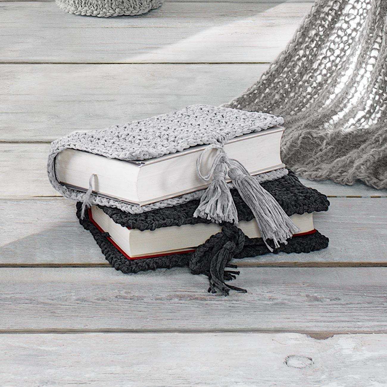 Anleitung 1691 Gehäkelte Buchhüllen Aus Bandana Von Junghans Wolle