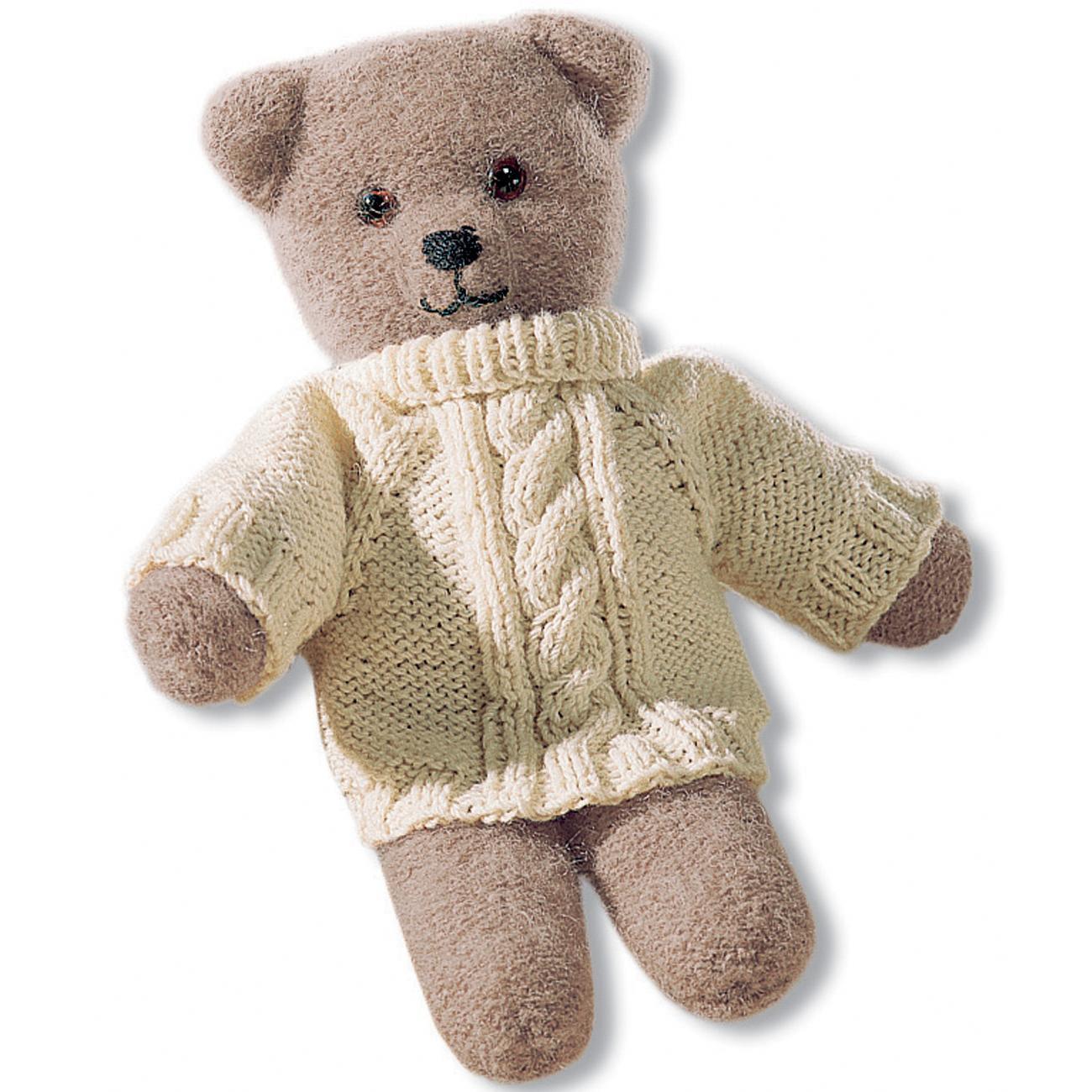 anleitung 250 4 teddy aus poco mit pulli aus landwolle von junghans wolle 2 versch farben. Black Bedroom Furniture Sets. Home Design Ideas