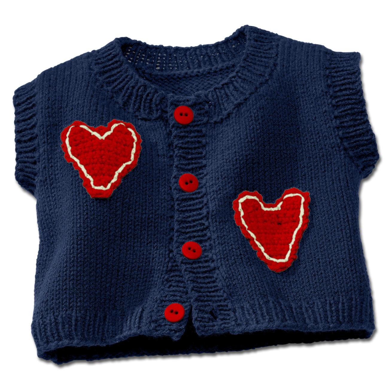 Anleitung 3253 Babyweste Mit Häkelapplikation Aus Merino Cotton