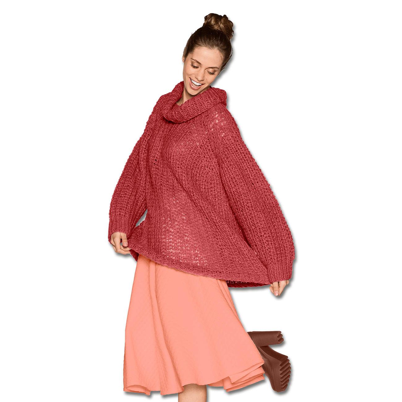 Anleitung 0105 Oversized Pullover Aus Aerea Von Junghans Wolle 1