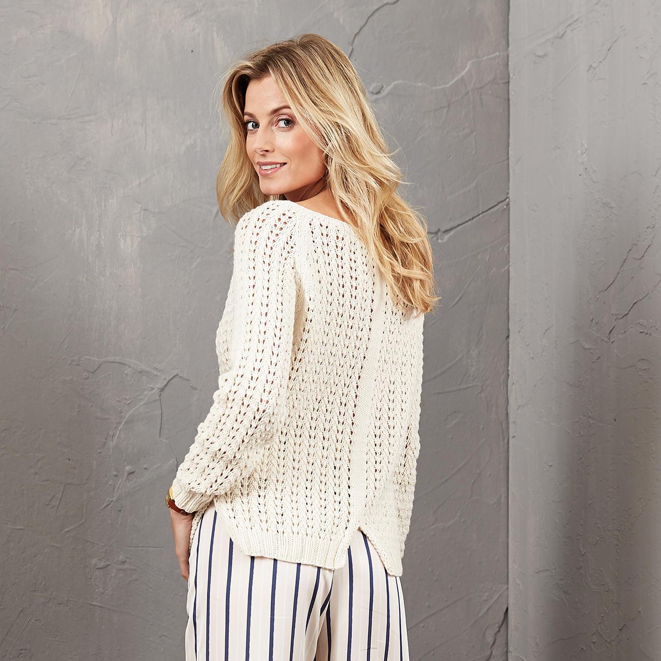 Anleitung 4685 Pullover Aus Merino Cotton Von Junghans Wolle 1