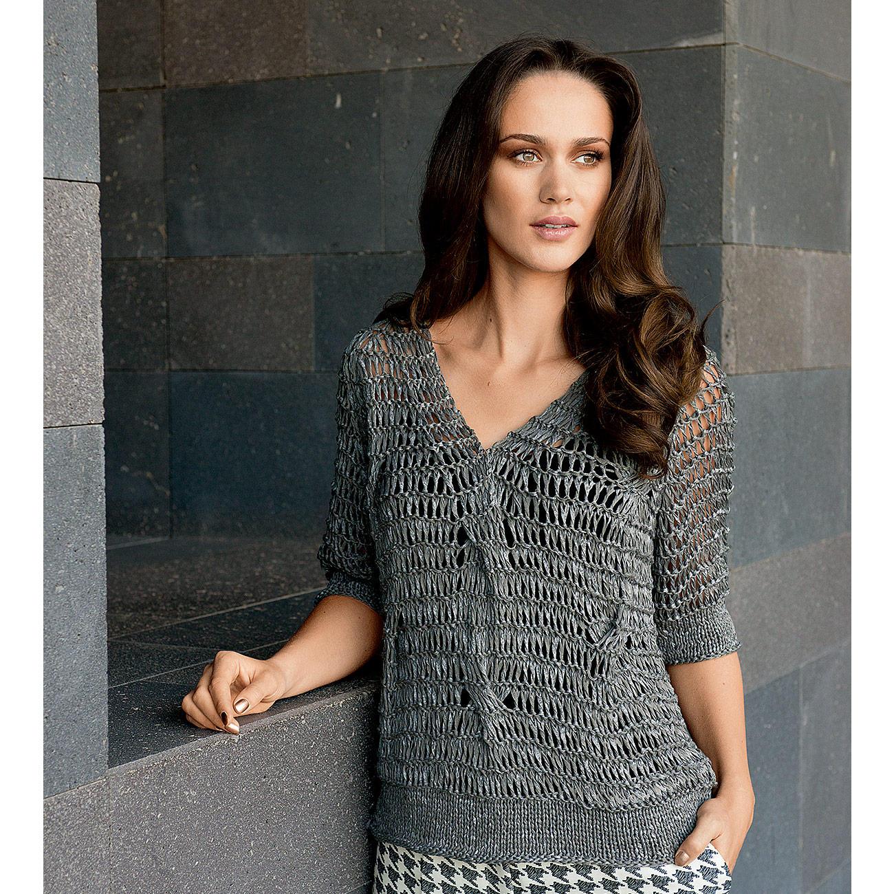 anleitung 065 6 pullover aus roma von lana grossa 1. Black Bedroom Furniture Sets. Home Design Ideas