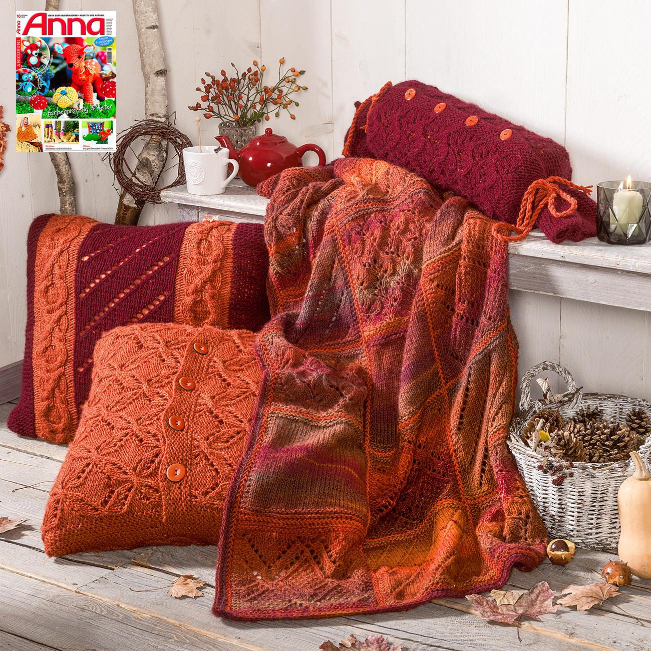 anleitung 157 6 decke aus scala und merino classic von junghans wolle 2 versch farben. Black Bedroom Furniture Sets. Home Design Ideas