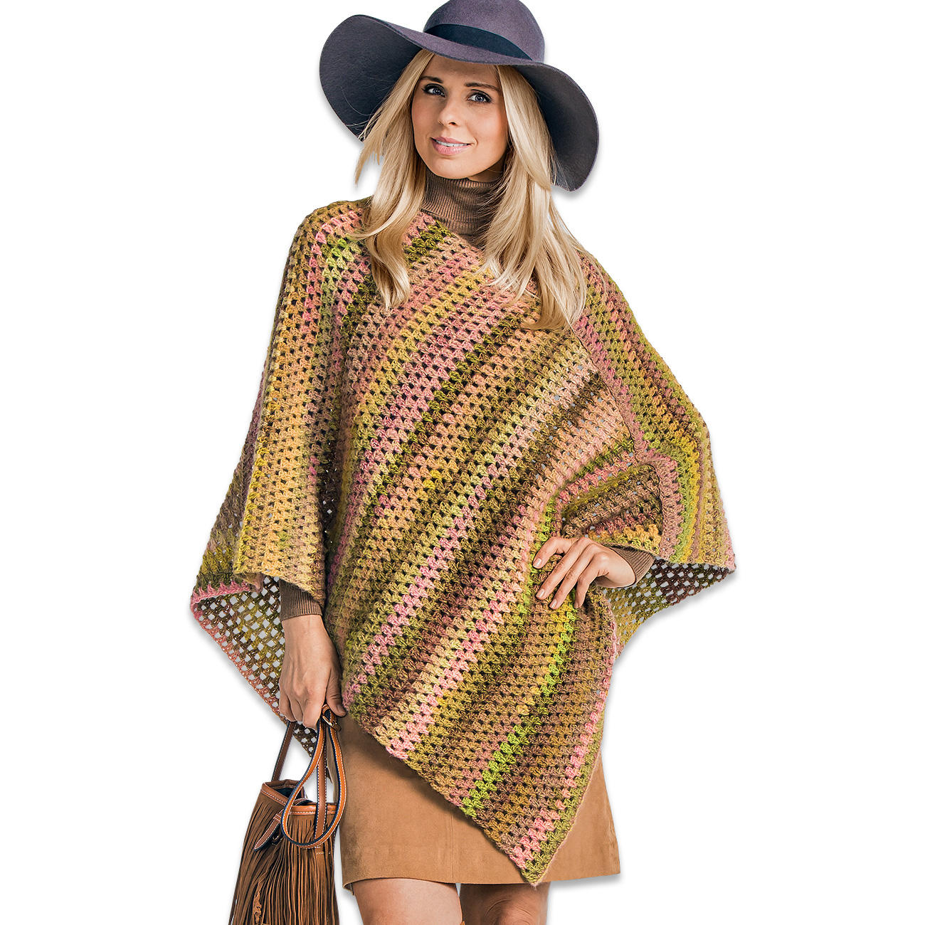 Anleitung 387 6 poncho aus scala von junghans wolle 1 - Junghanns wolle ...