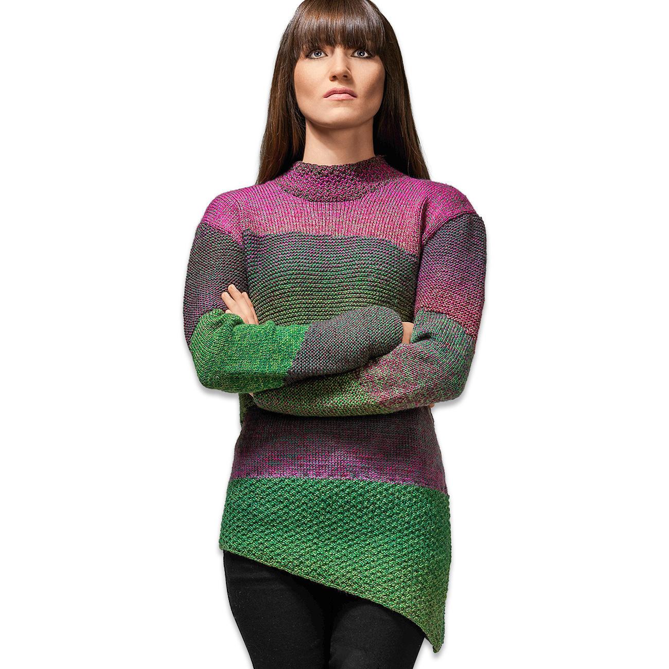 anleitung 438 7 pullover aus zauberwolle von schoppel wolle 1 versch farben. Black Bedroom Furniture Sets. Home Design Ideas