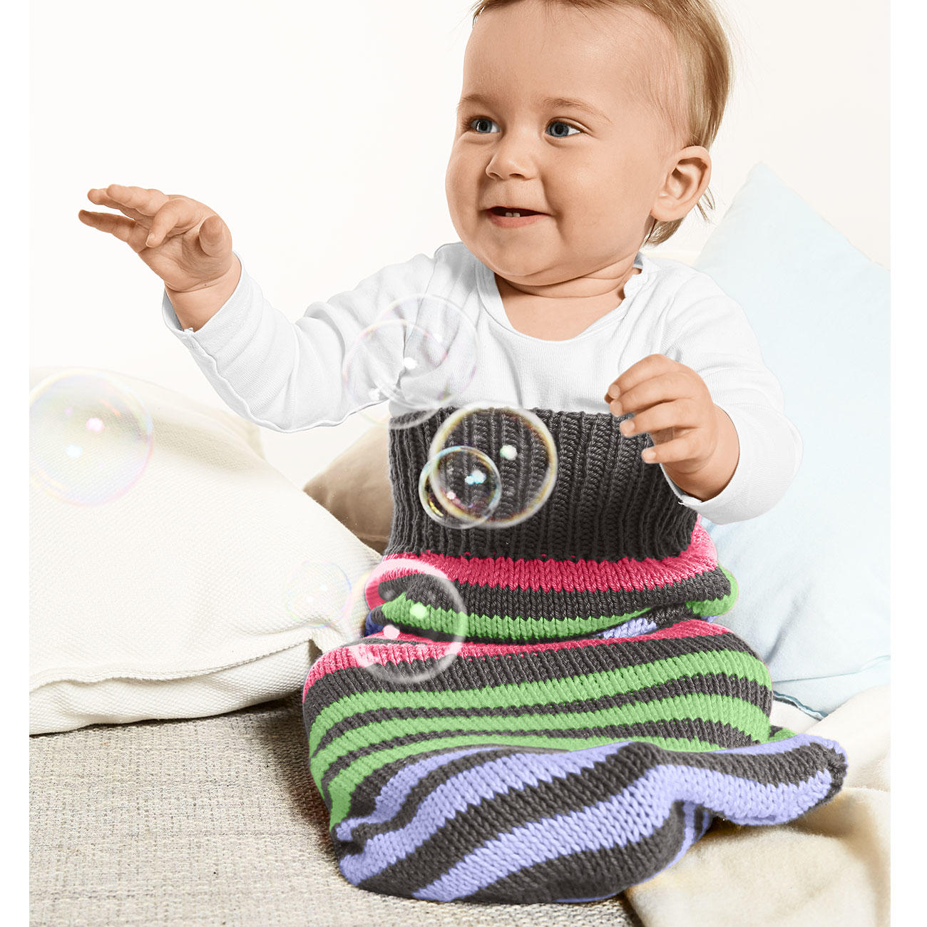 anleitung 326 7 pucksack aus cotonara von junghans wolle 4 versch farben. Black Bedroom Furniture Sets. Home Design Ideas