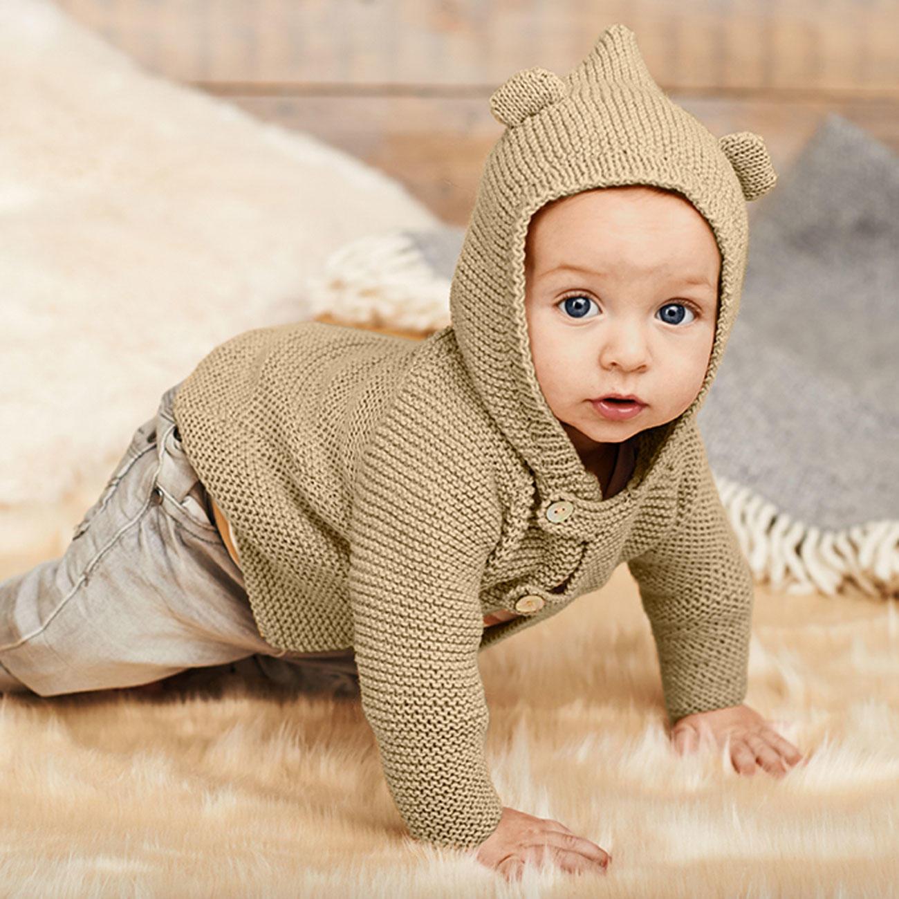 Anleitung 0778 Baby Jacke Mit Kapuze Aus Baby Classic Dk Von Rico