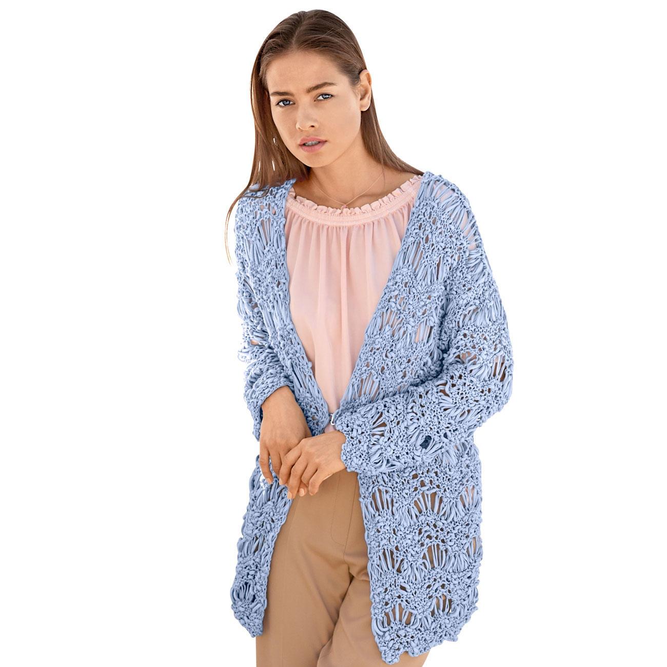 Anleitung 1168 Damen Jacke Aus Cotton Style Von Lana Grossa 1