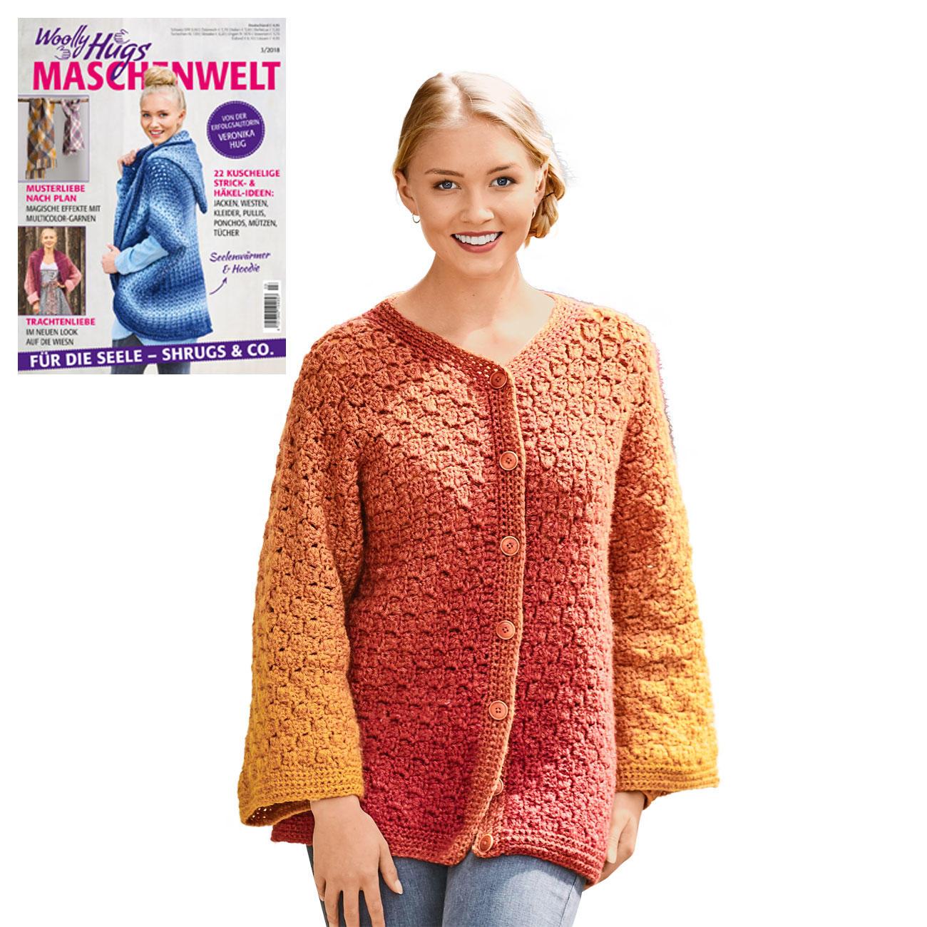 cheap for discount 2aee8 4fab0 Anleitung 319/8, Häkeljacke aus Cloud von Woolly Hugs, 1 ...