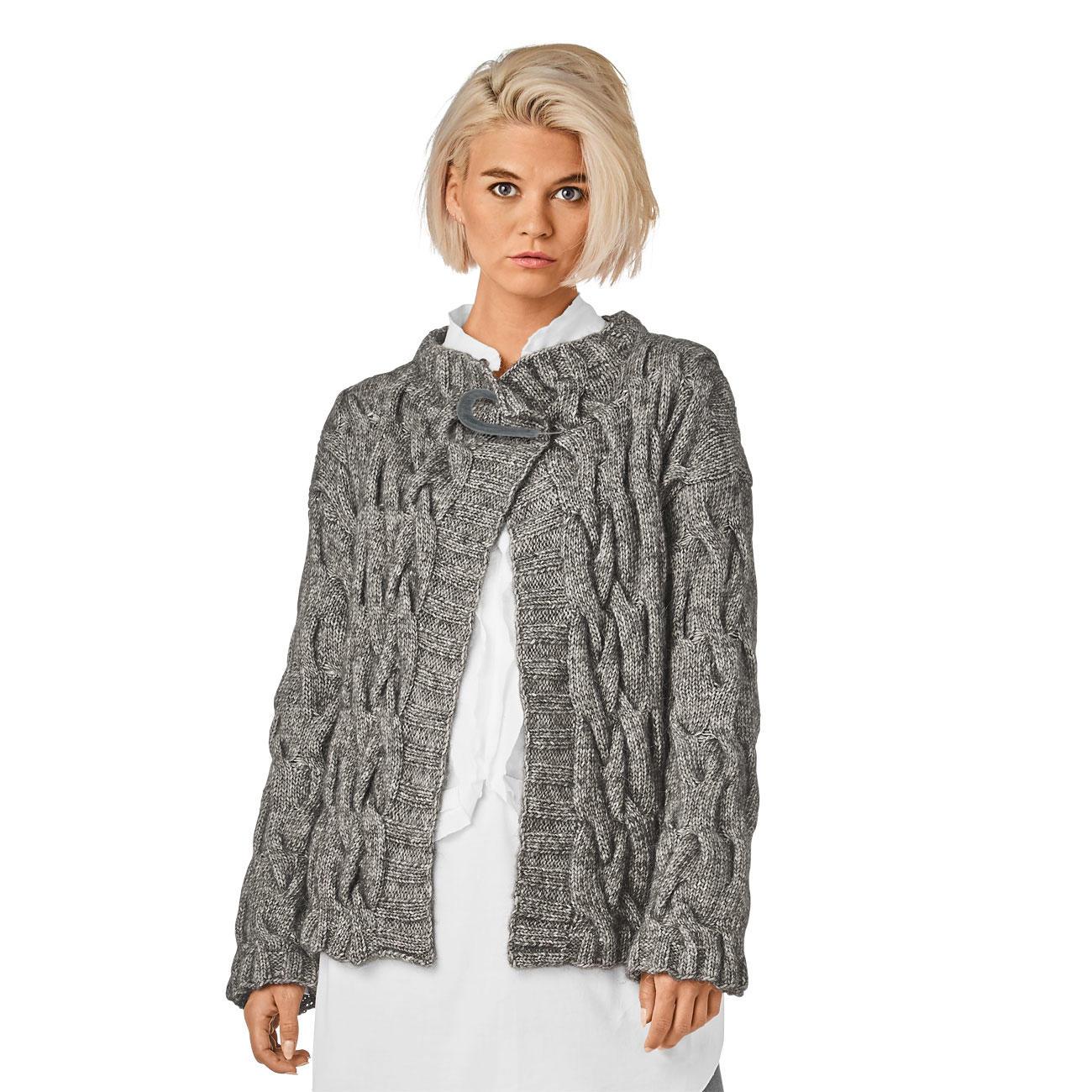 Anleitung 3508, Jacke aus Alpaca Cotton von Junghans Wolle