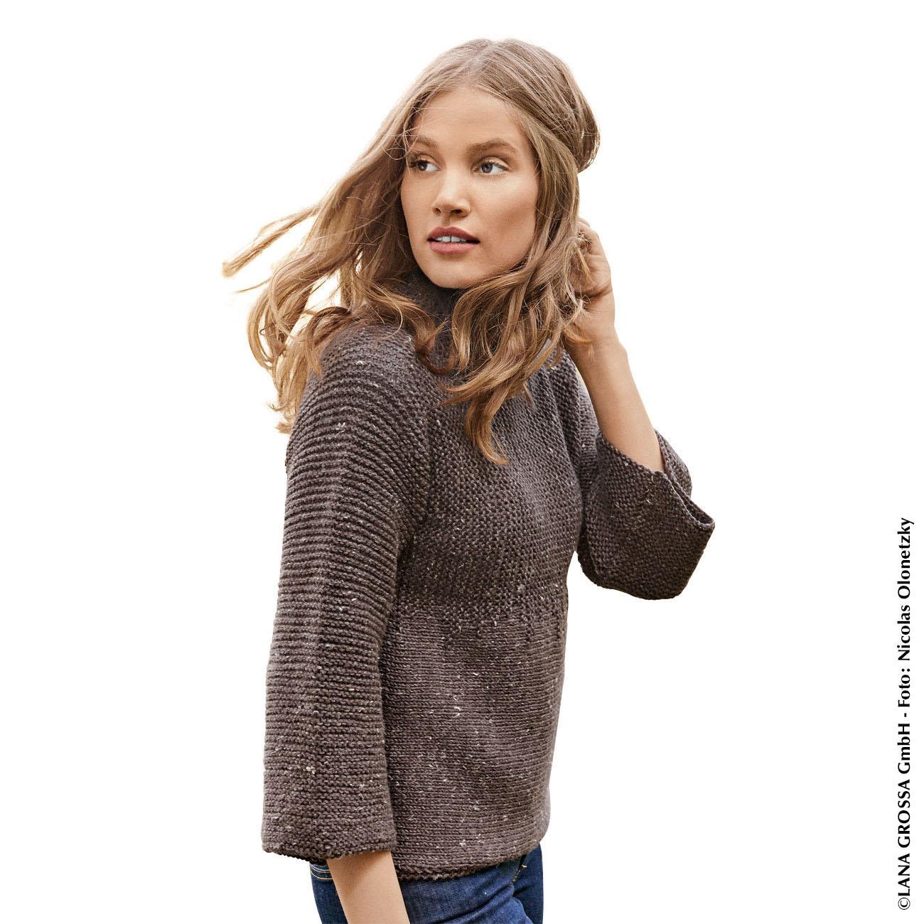 Anleitung 415/8, Pullover Aus Slow Wool Canapa Von Lana