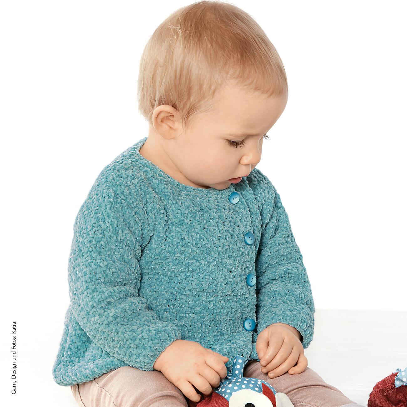 Anleitung 4428 Babyjacke Aus Velvet Fine Von Katia 1 Versch Farben
