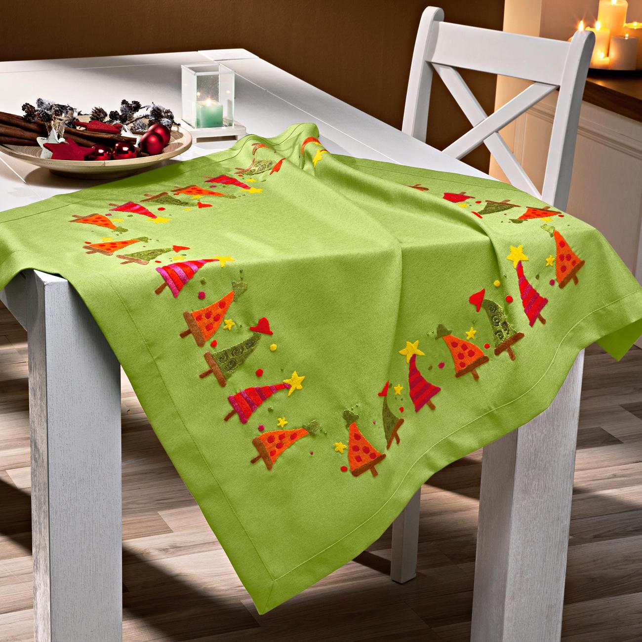 Moderne Tischwäsche tischdecke moderne tannenbäume grün