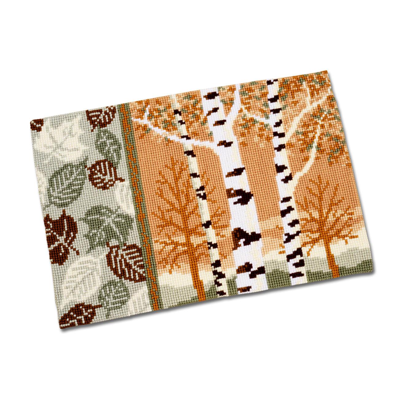 """Teppich oder Kissen """"Birken im Herbst"""""""