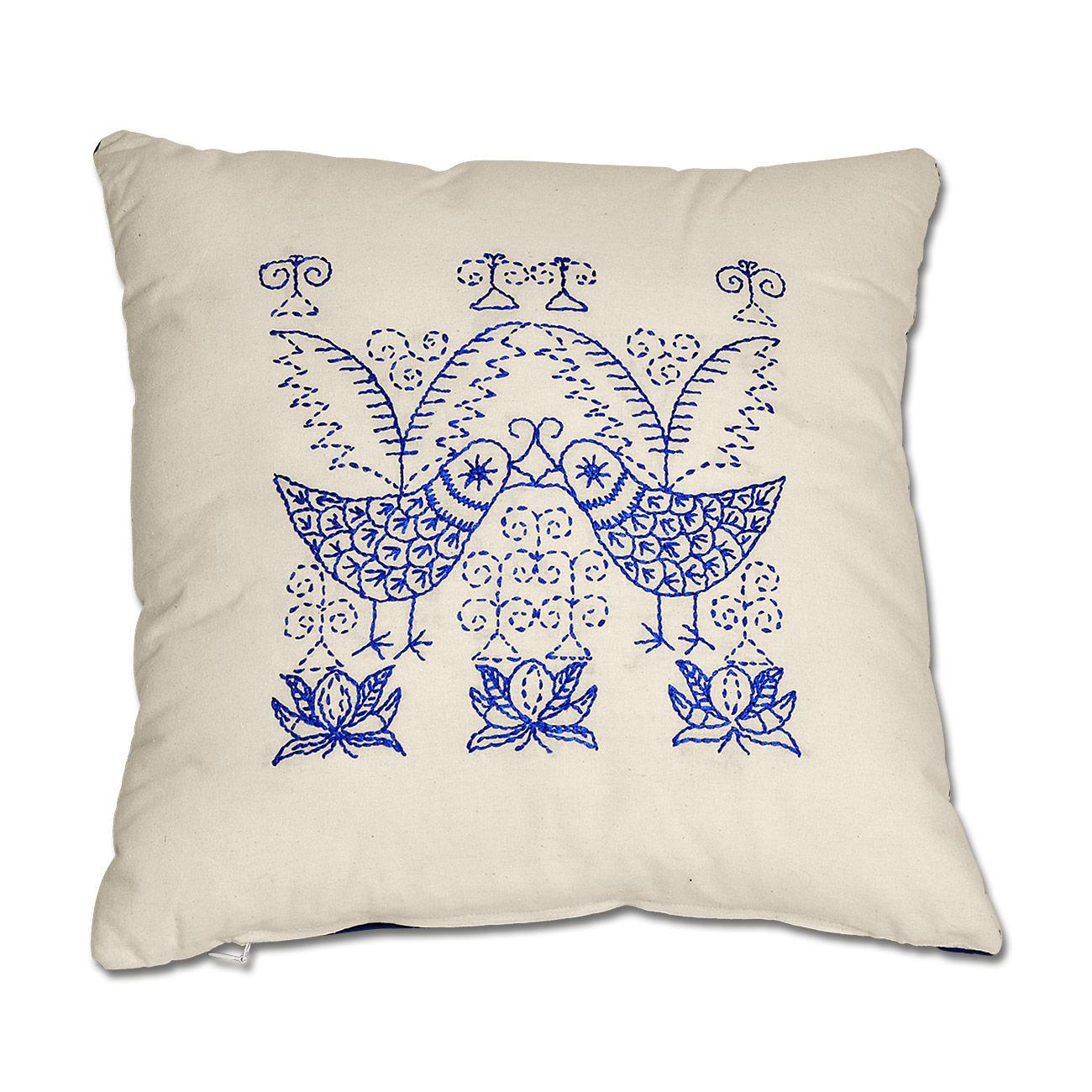kissen blaue v gel. Black Bedroom Furniture Sets. Home Design Ideas