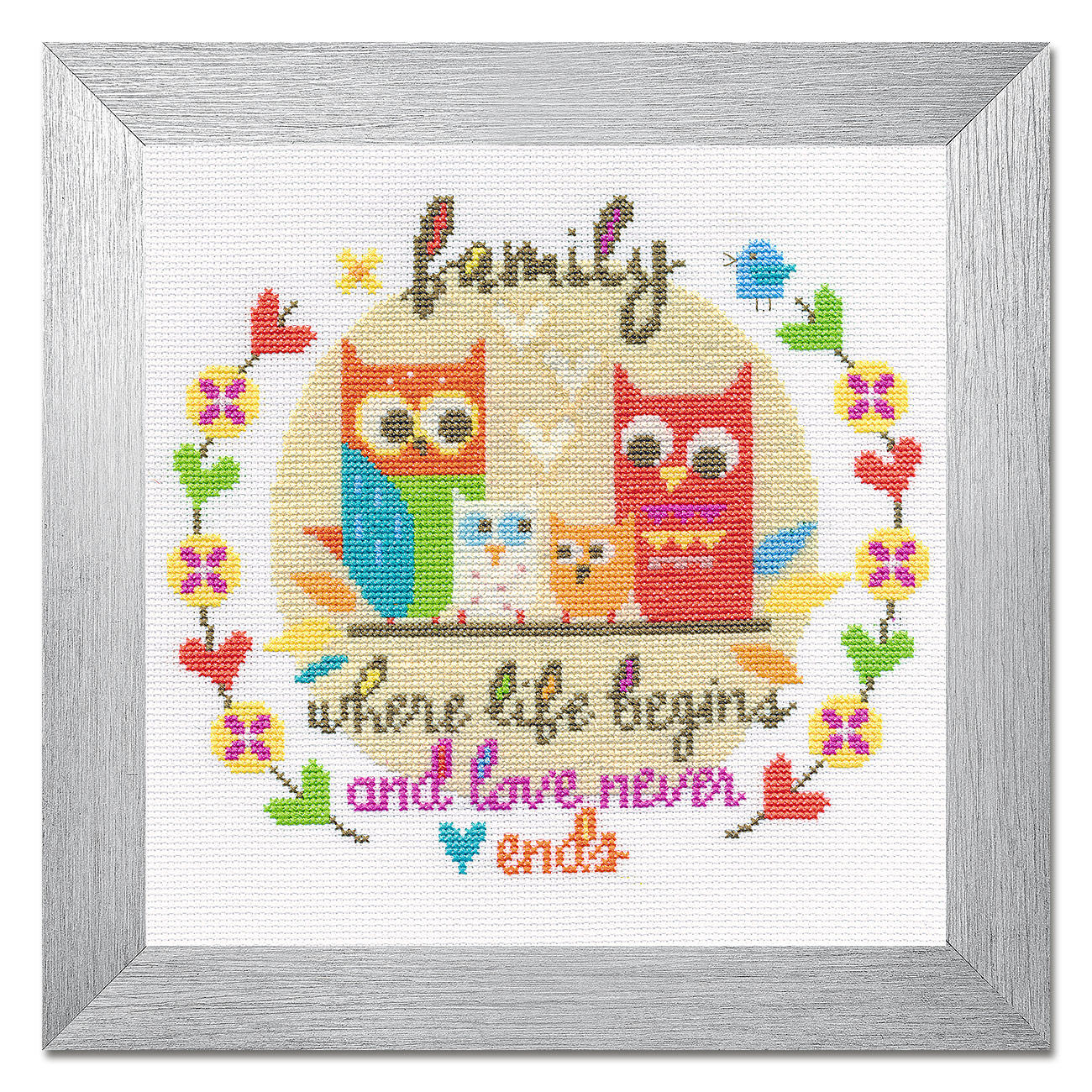Kreuzstichbild - Family