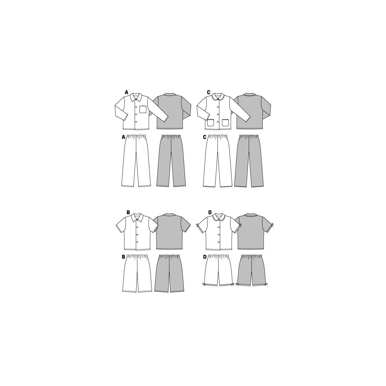 burda schnitt 9747 kinder schlafanzug. Black Bedroom Furniture Sets. Home Design Ideas