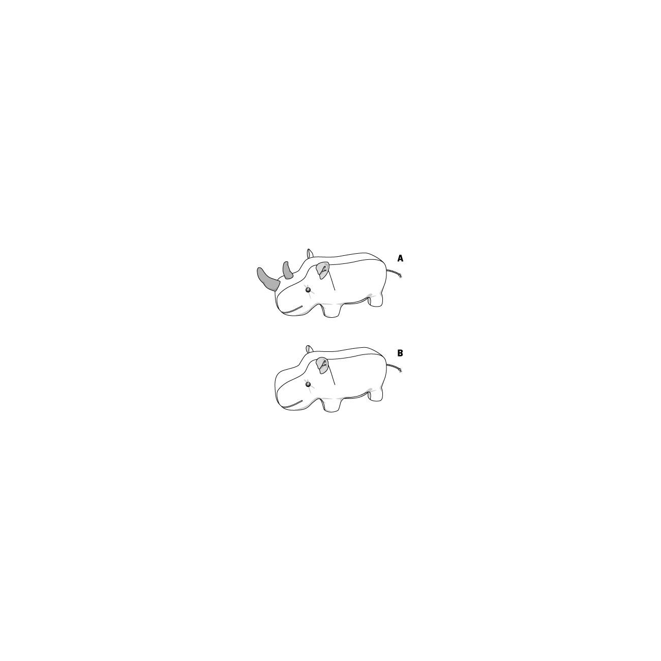 burda schnitt 6560 kuscheltier nashorn nilpferd. Black Bedroom Furniture Sets. Home Design Ideas