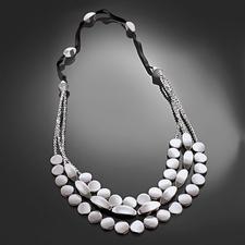 """Komplettpackung """"Kette Silberreigen"""" Schwarz, Weiß, Silber – modern und zeitlos zugleich."""