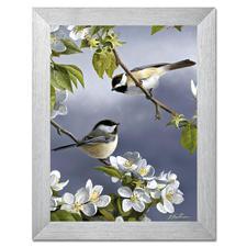"""Malen nach Zahlen """"Meisen im Frühling"""", ohne Rahmen Malen nach Zahlen """"Meisen im Frühling"""""""