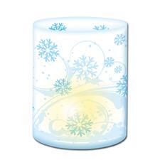 5 Winterliche Mini-Tischlichter im Set Die ideale Tischdekoration für festliche Anlässe.