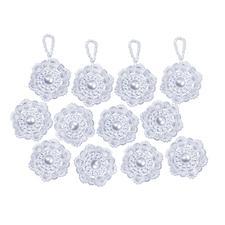 12 Perlenkränze im Set, Ø 4 cm Glamouröser Perlen-Weihnachtsschmuck – als Komplettpackung zum kreativen Selbermachen.