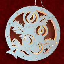 """Stimmungsvolle Dekorationen aus Holz """"Fensterbild Weihnachtskugel"""" Stimmungsvolle Dekorationen aus Holz"""