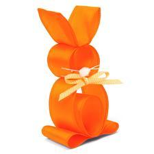 Fröhliche Bänder-Tiere, 4 Hasen im Set, Orange Lustige Tiere aus Schleifenbändern.