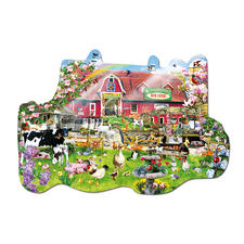 """Puzzle """"Auf dem Bauernhof"""" Formpuzzles im Set mit Vier-Jahreszeiten-Motiven."""
