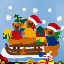 """Weihnachtliche Fensterbilder """"Schlittenfahrt"""" Weihnachtliche Fensterbilder aus Tonpapier – als Komplettset viel preisgünstiger als Einzelmaterialien."""