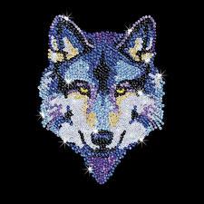 Paillettenbild für Erwachsene - Wolf Paillettenbilder mit eindrucksvollen Motiven