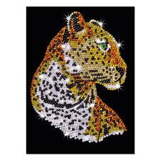 Paillettenbild für Erwachsene - Leopard Paillettenbilder mit eindrucksvollen Motiven