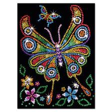 """Paillettenbild für Kinder """"Schmetterling"""" Glitzernde Paillettenbilder – ganz einfach gesteckt"""