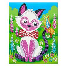 Paillettenbilder mit Glitzerpuder - Kätzchen Stardust-Sequin Art: Paillettenbilder mit Glitzerpuder.
