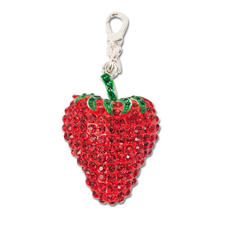 """Anhänger """"Erdbeere"""" mit Strasssteinen Rico Design Big Charms"""