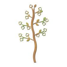 Messlatte Baum aus Sperrholz.