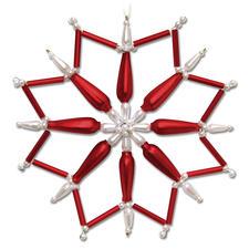 Böhmischer-Weihnachtsstern, Rot/Weiß